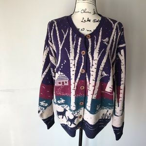 Vintage Northern Reflections Canadian cardigan L